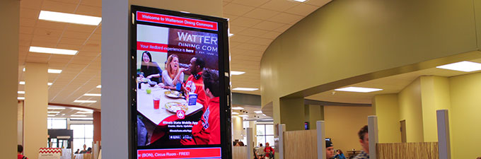 Information screens campus dining illinois state for Watterson dining